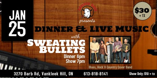 Live Music with SWEATING BULLETS