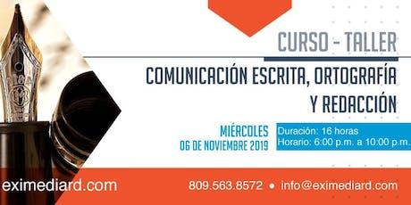 CURSO - TALLER COMUNICACION ESCRITA, ORTOGRAFÍA Y REDACCIÓN entradas