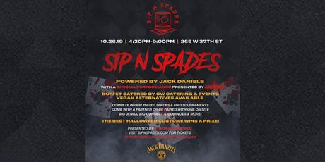 Sip N Spades x Halloween Edition 10.26.19 tickets