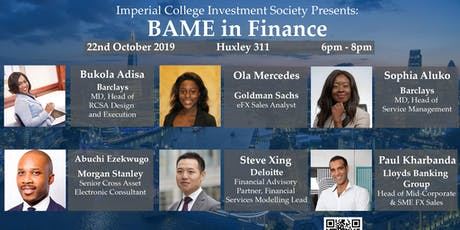 BAME in Finance - Imperial College event tickets