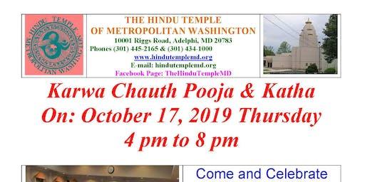 Karwa Chauth Pooja & Katha  October 17, 2019 Thursday 4 pm to 8 pm