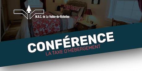 Conférence - La taxe d'hébergement billets