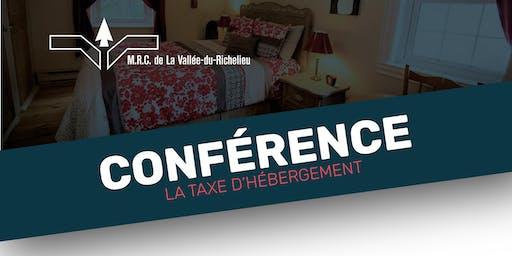 Conférence - La taxe d'hébergement