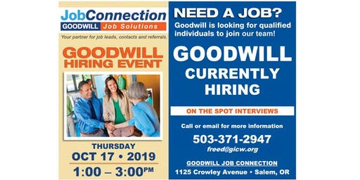 Goodwill is Hiring - South Salem - 10/17/19