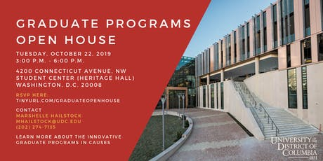 UDC Graduate Programs Open House tickets