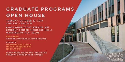 UDC Graduate Programs Open House