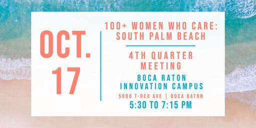 100+ Women Who Care South Palm Beach: Fall Meeting 2019