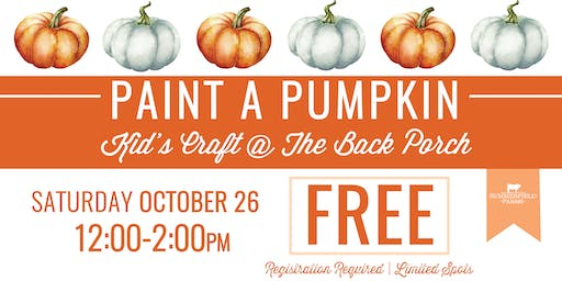 Paint a Pumpkin Kid's Craft