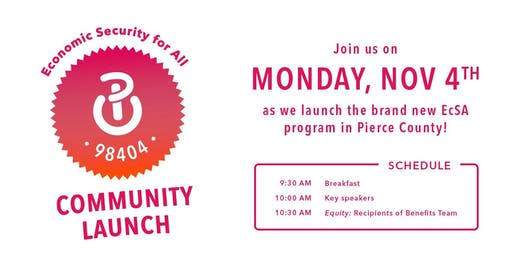 Economic Security for All: Pierce County Community Launch
