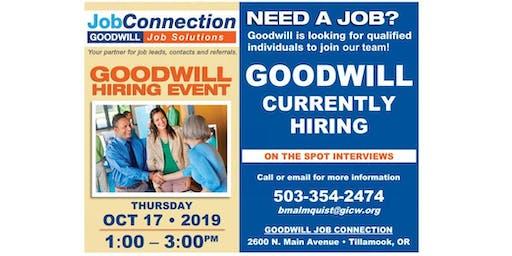 Goodwill is Hiring  - Tillamook - 10/17/19