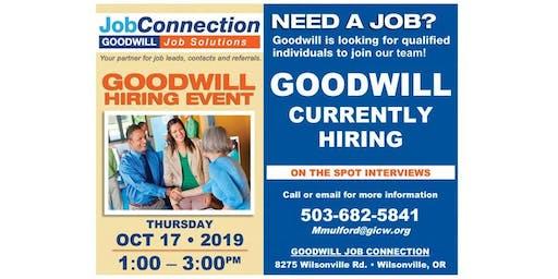 Goodwill is Hiring - Wilsonville - 10/17/19