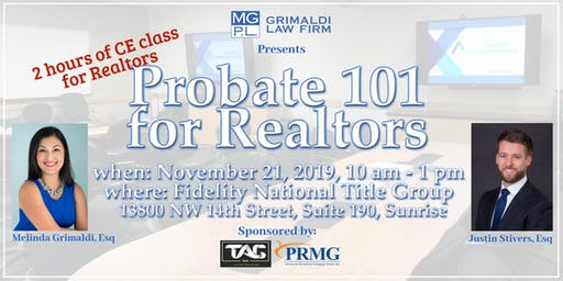 Probate 101 for Realtors - CLE Class