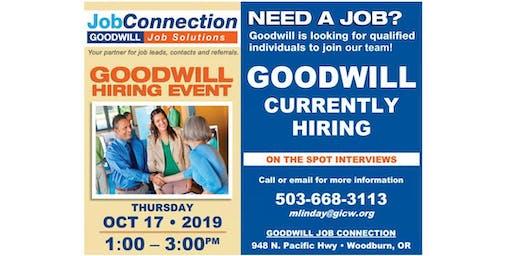 Goodwill is Hiring  - Woodburn - 10/17/19