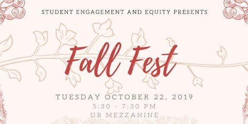 Student Engagement and Equity presents Fall Fest - Peer Mentoring Event