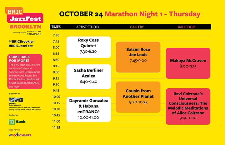 BRIC JazzFest Marathon: Night 1 image