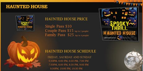 Spooky Thrill Haunted House tickets