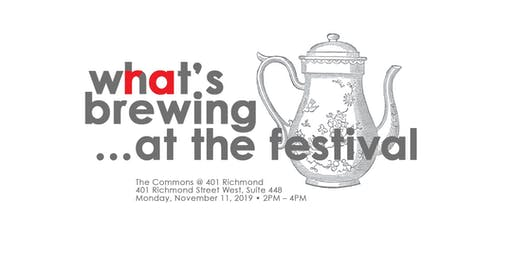 What's Brewing...at the Festival