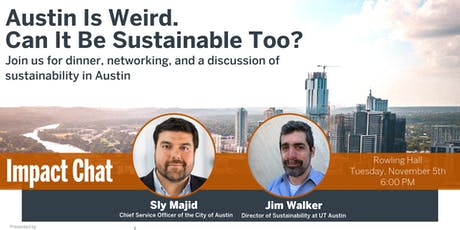 Impact Chat: Austin is Weird. Can it be Sustainable Too? tickets