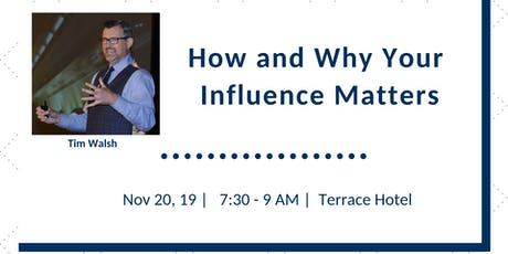 FPRA November Meeting: How and Why Your Influence Matters tickets