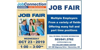 Job Fair - Beaverton - 10/23/19
