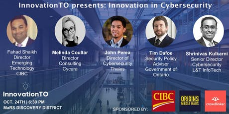 InnovationTO presents: Innovation in Cybersecurity tickets