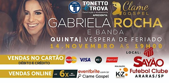 Imagem do evento Clame Gospel Araras- Gabriela Rocha
