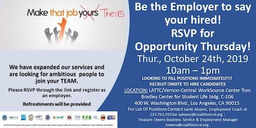 Employer Invitation to Opportunity Thursday