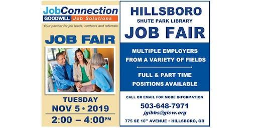 Job Fair - Hillsboro - 11/5/19