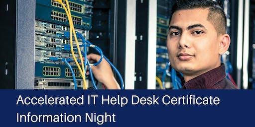 IT/Help Desk Certificate Information Night 2019