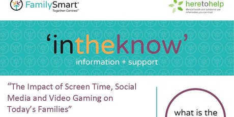 """""""The Impact of Screen Time, Social Media & Video Gaming on Today's Families tickets"""