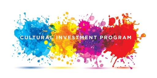 Cultural Investment Program (CINV) Application Workshop