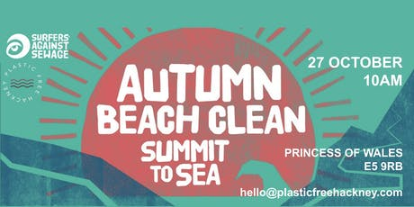 Autumn River Clean - Plastic Free Hackney and Surfers Against Sewage tickets