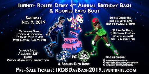 IRD 4th Annual Birthday Bash: IRD vs VCDD + Rookies Expo bout