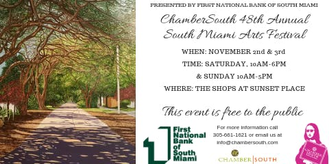 48th Annual ChamberSOUTH South Miami Arts Festival