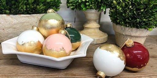 Holiday DIY- Gold Leaf Ornaments (Perkins/Highland)
