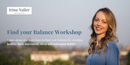 Find Your Balance Workshop