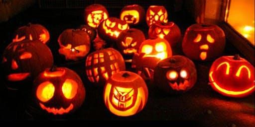 Pumpkin Carving at the Halloween market at Cuttty Sark Gardens Greenwich