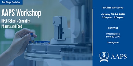 HPLC School - Cannabis, Pharma and Food tickets