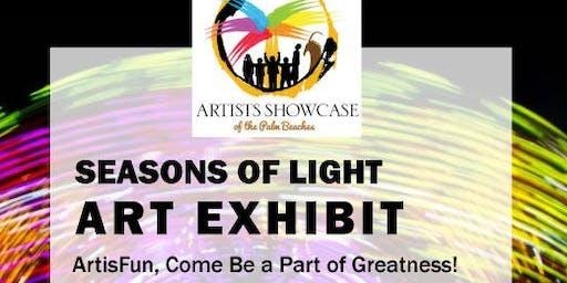 Artists Showcase of the Palm Beaches-Seasons of Light Exhibit