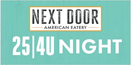South Boulder Little League 25 4U Night at Next Door in Boulder tickets