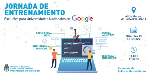 Jornada de Entrenamiento en Google para Universidades Nacionales