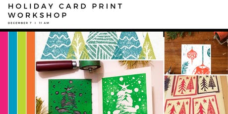 Holiday Card Print Workshop tickets