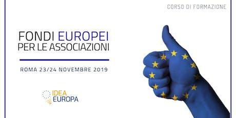 Corso Fondi Europei per le Associazioni biglietti