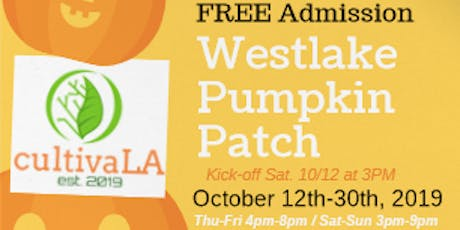 Westlake Pumpkin Patch 2019 tickets