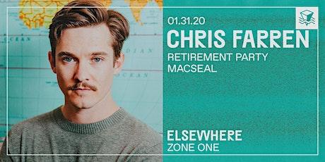 Chris Farren @ Elsewhere (Zone One) tickets