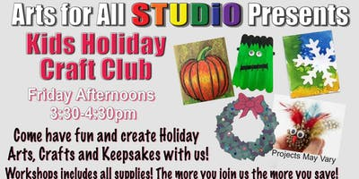 Kids Holiday Art and Craft Club