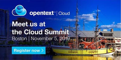 OpenText Cloud Summit - Boston
