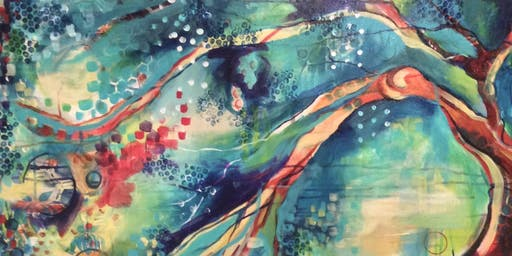 "Playful Painting : ""Joyful Trees"""