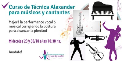 Curso de Técnica Alexander para músicos y cantantes