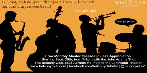 Jazz Appreciation Master Class with the Jonathan Fisher Trio